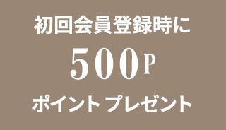 初回会員登録時に500ポイントプレゼント